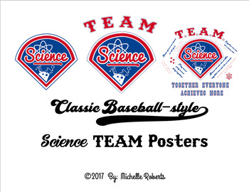 Classic Baseball-style Science Team Posters