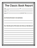 Classic Book Report for Intermediate and Middle School