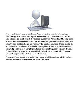 Classic Books-Alternate Titles-Webquest or Internet Scavenger Hunt- Grades 8-12
