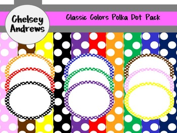 Classic Bright Polka Dot Pack{Commercial or Personal Use}