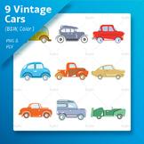 Classic Cars Creative Clip art set