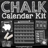 Chalkboard Calendar Math Decor