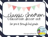 Classic Chevron Classroom Decor Set