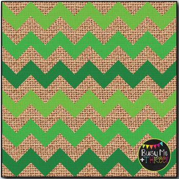 Classic Christmas Chevron Burlap Digital Papers {Commercial Use Graphics}