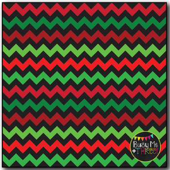 Classic Christmas Chevron on Black Digital Papers {Commercial Use Graphics}