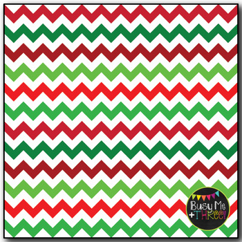 Christmas Digital Papers Classic Chevron on White {Commercial Use Graphics}