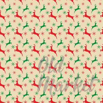 Classic Christmas Digital Paper Pack - 16 Papers - 12x12in