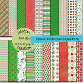 Classic Christmas Digital Paper Pack