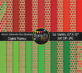 Classic Christmas Dots on Burlap Digital Papers {Commercial Use Graphics}