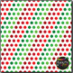Classic Christmas Dots on White Digital Papers {Commercial Use Graphics}