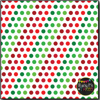 Christmas Digital Papers Classic Dots on White {Commercial Use Graphics}