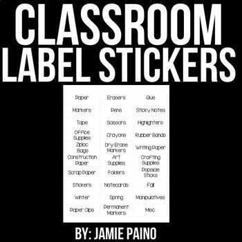 Classic Classroom Label Stickers