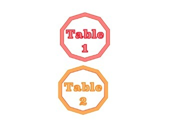 Classic Color Table Numbers