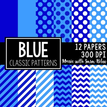 Classic Colors and Designs- 96 Digital Papers (8 Pack BUNDLE)