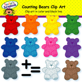 Classic Counting Bears Clip Art