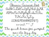 Classic Cursive Font {True Type Font for personal and commercial use}