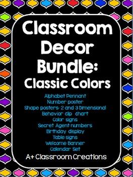 Classic Decor Bundle:  Classic Colors