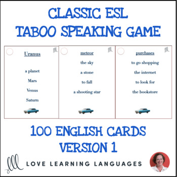Classic ESL Taboo Speaking Game