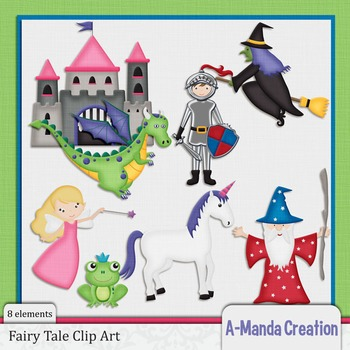 Classic Fairy Tal Characters Clip Art