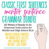 Classic First Sentences Mentor Sentence Grammar Bundle
