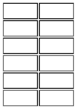 Classic Flashcard Template