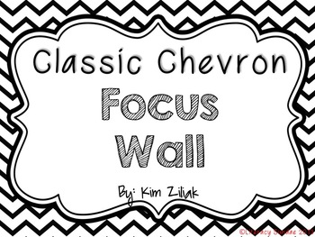 Classic Focus Wall {Black and White}