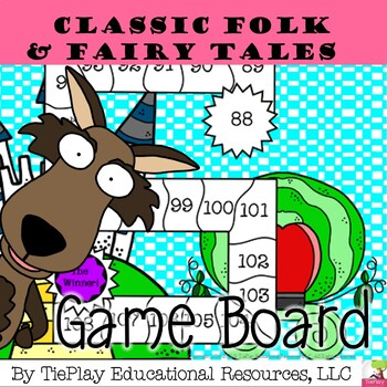 Classic Folk and Fairy Tales Language Arts Learning Game Board