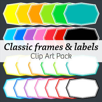 Classic Frames & Labels – Commercial – Many colors!