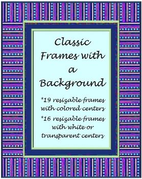 Classic Frames with Backgrounds: Premade Cover Pages
