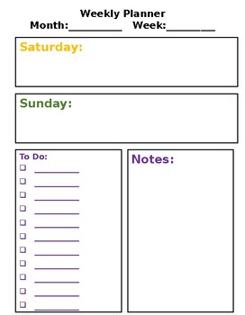 Classic Happy Planner Weekly Spread