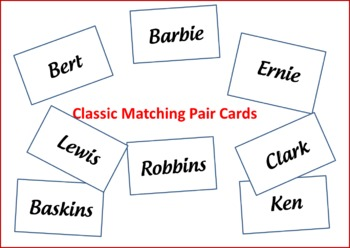 Classic Matching Pair Cards