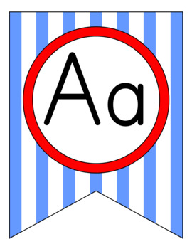 Classic Nautical Alphabet Pennant Banners
