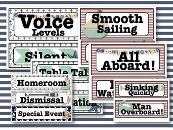 Classic Nautical Classroom Decor Pack #1