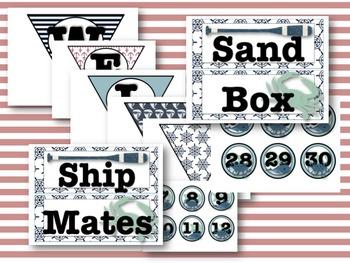 Classic Nautical Classroom Decor Pack #2