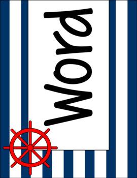 Classic Nautical Classroom Theme Word Wall Set