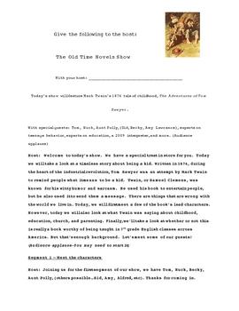 Classic Novel Talk Show - Adventures of Tom Sawyer