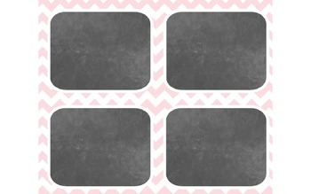 Classic Pink & Grey Classroom Decorations
