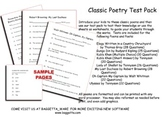 Classic Poetry Test Pack