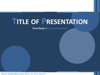 Classic PowerPoint Template (Blue)