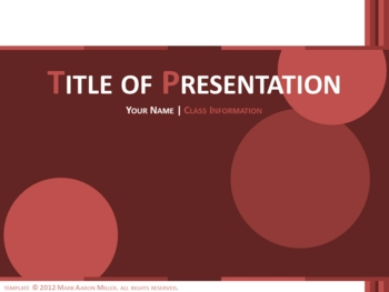 Classic PowerPoint Template (Cranberry)