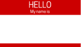 Classic Red Name Tag