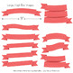 Classic Ribbon Banner Clipart in Coral