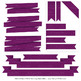 Classic Ribbon Banner Clipart in Plum