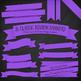 Classic Ribbon Banner Clipart in Purple