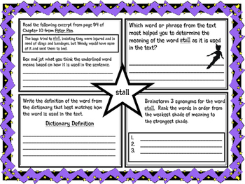 Classic Starts Peter Pan Chapter 10 Vocabulary Organizer NYS Module 3