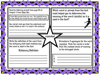 Classic Starts Peter Pan Chapter 11 Vocabulary Organizer NYS Module 3