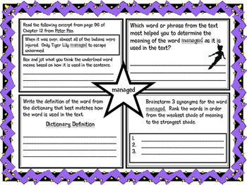 Classic Starts Peter Pan Chapter 12 Vocabulary Organizer N