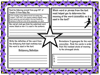 Classic Starts Peter Pan Chapter 13 Vocabulary Organizer NYS Module 3