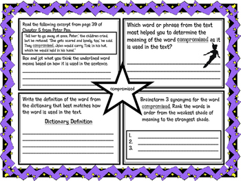 Classic Starts Peter Pan Chapter 5 Vocabulary Organizer NY