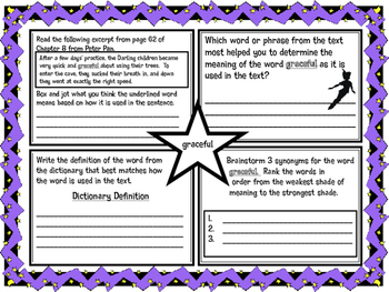 Classic Starts Peter Pan Chapter 8 Vocabulary Organizer NYS Module 3